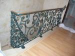 Schmiedegeländer, Treppengeländer Blaugrün, Ornament Schmiede