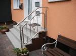 Metallgestaltung Brungs, Edelstahlgeländer, Eingangstreppe Haus