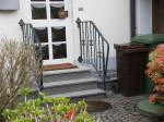 Außentreppe Geländer, Zweiseitig, Treppengeländer Schwarz