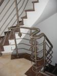 Treppenhaus Brungs, Gebogener Handlauf, Geländer Silber