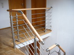 Holz Stahl Geländer, Metallgestaltung Brungs, Niederkassel Treppengeländer