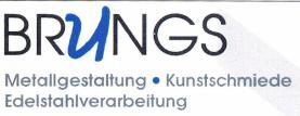 Brungs Logo, Edelstahlverarbeitung, Niederkassel Kunstschmiede